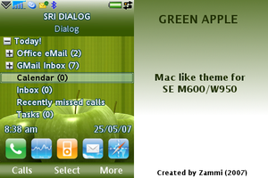 Green Apple for M600 W950 by zammi