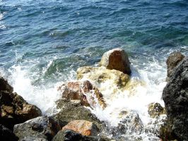 Sea and rocks 01 by blue-crystall