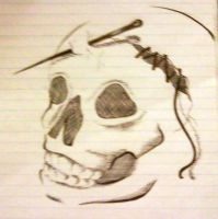 Punctured Skull by Snappedragon
