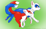 Latias and Latios as kittens by Hawkfire11111