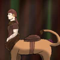 Trevor's a Liontaur Now by KcBarron2000