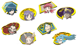 Johto Gym Leader Icons by ILKCMP