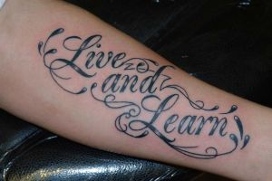 Live and Learn Lettering by Ashtonbkeje