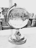 Glass globe by Wheat-C