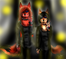 Gift: Roxy and Moxy by ScottishRedWolf