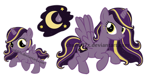 My Little Pony Adoptable - Moon Drop by teddy-beard