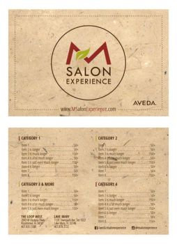 Salon Menu by mynando