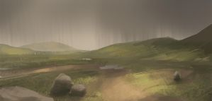 Green Land in Storm by DM7