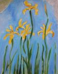 Monet Painting: Yellow Irises by 1998CarminElric