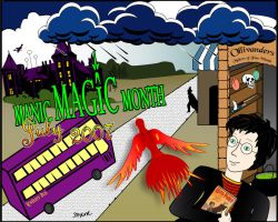 Manic Magic Month Wallpaper by Eicats