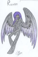 Raven color by Mary-Maru