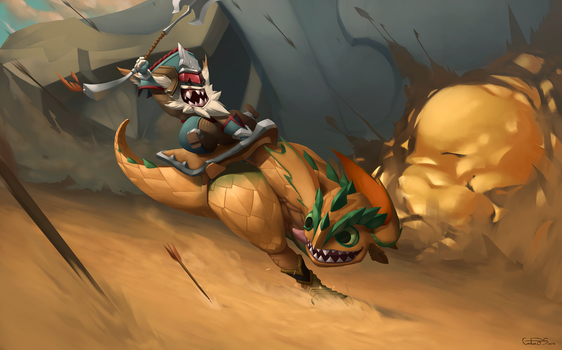 League of Legends - Kled the Cantankerous Cavalier by Arturbs