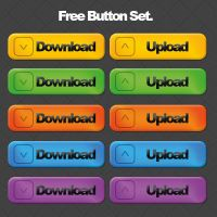 Free Download Upload Button Set by calwincalwin