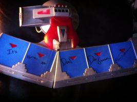 DAN GREEN AND ERICA SHROEDER SIGNED MY DUEL DISK! by DrGengar