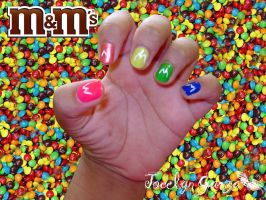 m-m's chocolate candy by Jocy-007