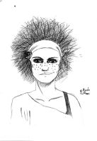 Girl with Crazy Hair by crazydiary86