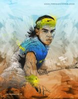 Rafael Nadal by thefreshdoodle