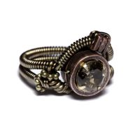 Steampunk Ring Smoky Quartz by CatherinetteRings