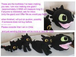 Giant toothless plush WIP by chocoloverx3