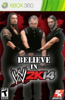 My WWE 2K14 Alternate game cover 1 by ads2142