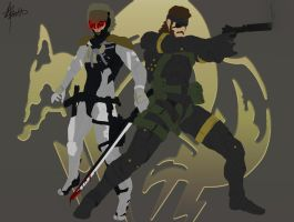 Raiden and Snake by junaidthe1
