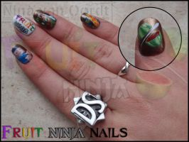Fruit ninja nails by Ninails