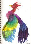 Colorfull bird by Liedeke