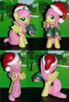 Christmas Fluttershy from My Little Pony by TianaTinuviel