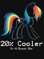 20 percent cooler shirt by Pixel-Teh-Fuzzy