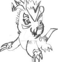 GOMAMON SKETCH OLD DIGIMON DRAWING 6 BY ME by DEVIOUS-DISCORD-RP