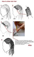 Tutorial draw lock hair by lamorghana