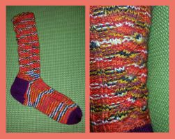 Autumn cable socks by KnitLizzy