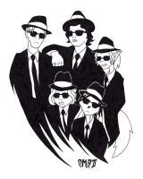 The Blues Brothers Cartoonists by devillo