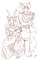 Family Portrait Sketch by ChaloDillo