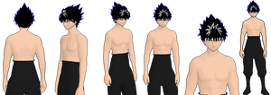 hiei model 2 remade cel wip by GAME-ART-EDITED-ART