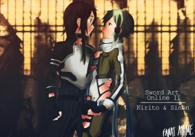 FanArt Kirito and Sinon from Sword Art Online II by PaintforfunYoutube