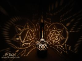 TRIYANTRA gourd lamp night by EvaLightArt