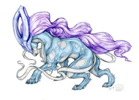 #245: Suicune - colored by Vattukatt
