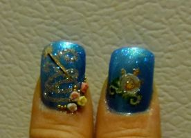 cinderella nails thumbs by myfairygodmother
