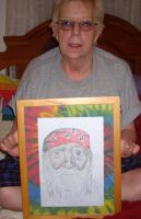 My mom with WIllie Nelson Pic by Buhla