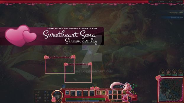 Sweetheart Sona stream overlay by Kireaki