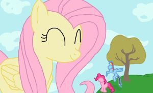 The Big Friendly Fluttershy by Final7Darkness