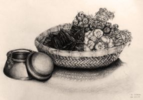 Still life drawing since 2003 #3 by Feohria