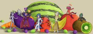 Fruit and vegetable by UmbralHorror