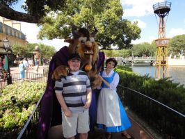 Me with Belle and Beast by MightyMorphinPower4