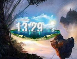 Flying Pond HD for xwidget by jimking