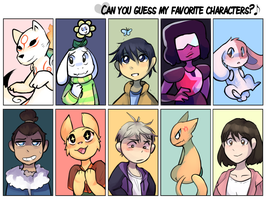 My Favorite Characters by honrupi