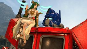 Optimus Prime and Palutena : What's up by kongzillarex619