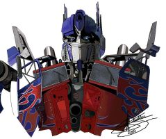 Optimus Prime MS Paint - step1 by RyGuy52