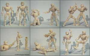 3D printed Robot Action Figures by hauke3000